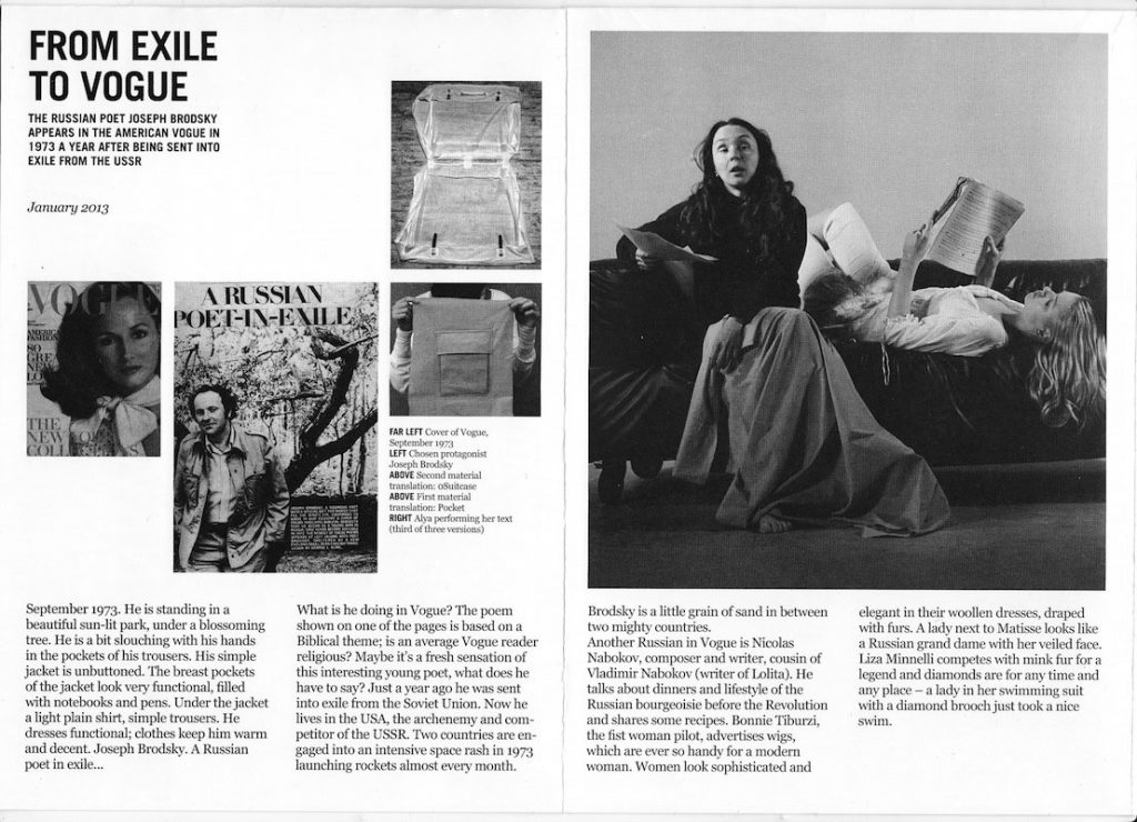 Alya Hessy, Enacted Magazine, 2012